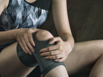 Knee injury in women playing sports